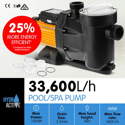 HydroActive Swimming Pool Water Pump - 1500W