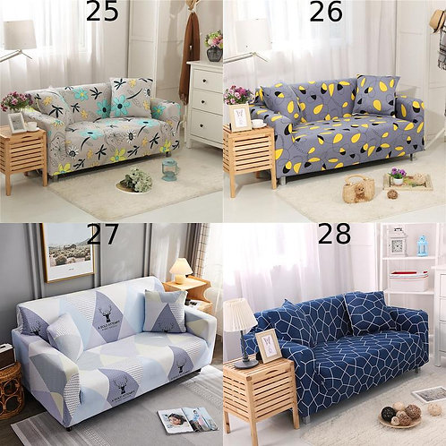 Sofa Cover Protector 3D Color Cotton 1-4 Seater L Shape Sofa Sectional One Size
