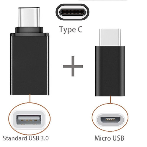 2in1 Type C to USB OTG Adaptor