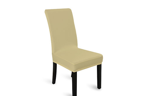 4pcs Stretch Elastic Dining Room Washable Chair Cover Champagne