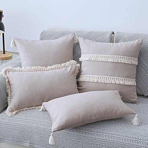 Cotton Linen Cushion Cover 30x50cm/45x45cm Decorative