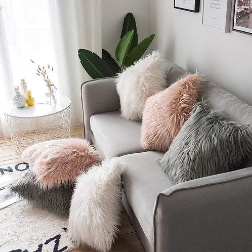 Fur Cushion Cover Pillow Cover Decorative Pillowcase 43x43cm Shaggy