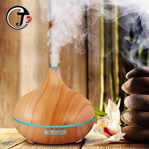 New 550ml Wood Essential Oil Diffuser, USB , 7 Color LED Lights,  Remote