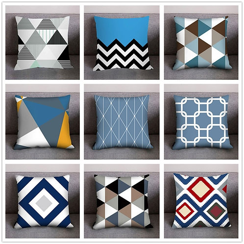 Pillow Cover Geometric Cushion Cover 45*45 Pillow case Polyester