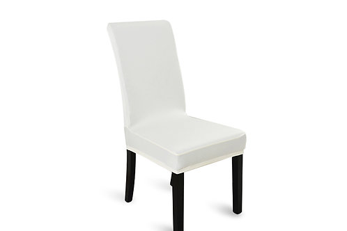 6pcs Stretch Elastic Dining Room Washable Chair Cover White