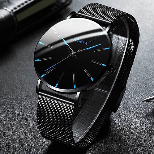 2020 Minimalist Men's Ultra Thin Quartz Watch, Simple Stainless Steel Mesh Belt