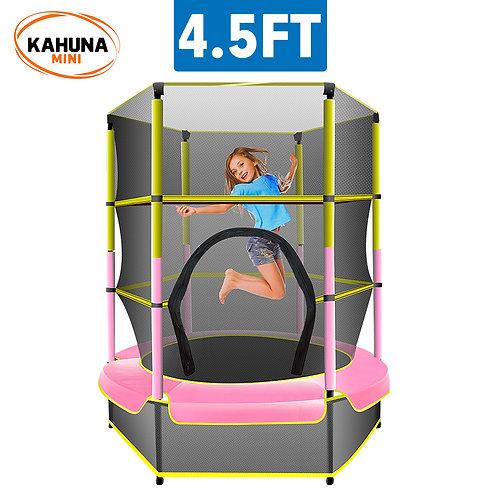 Kahuna Mini 4.5 ft Trampoline Yellow Pink