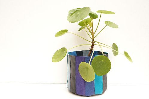 Cache Pot Bleu Multicolore Petit