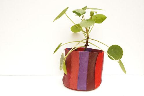Cache Pot Rouge Multicolore Petit