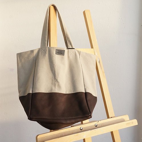 Chocolate Cloud Leather Tote