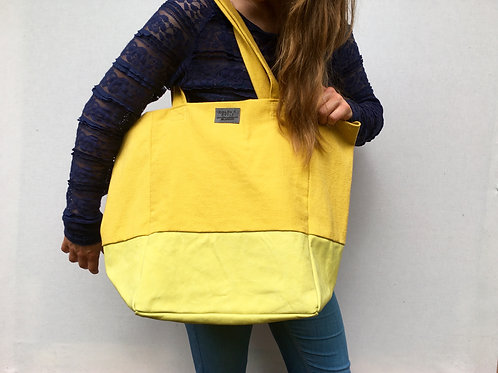 Green Sunshine Leather Tote