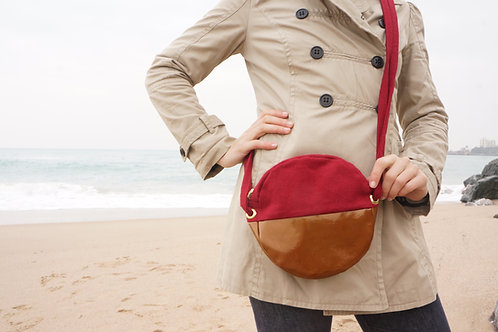 Sac Rond Cuivre Rouge