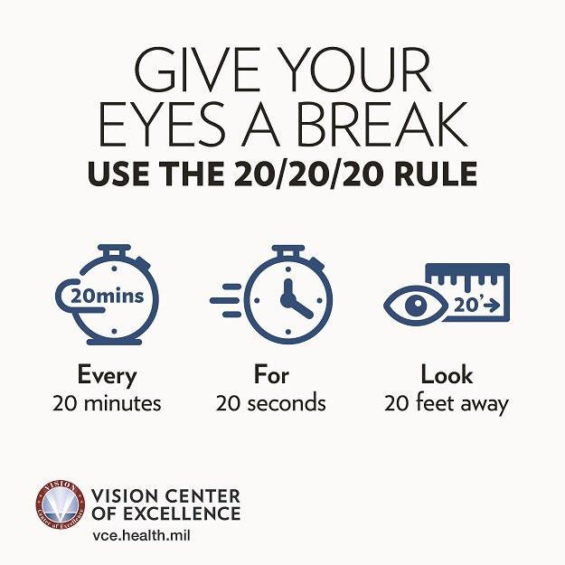 Правильно для сохранения зрения