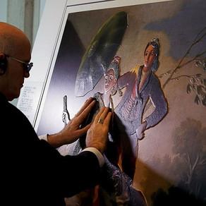 Выставка картин для слепых и слабовидящих