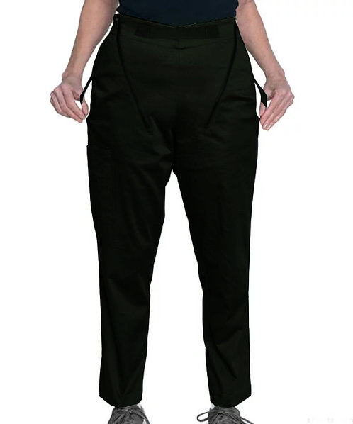 Calça masculina de transferência com alças para facilitar a remoção de cadeirantes