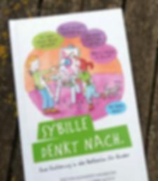 Sybille denkt nach. Kinderbuchillustration
