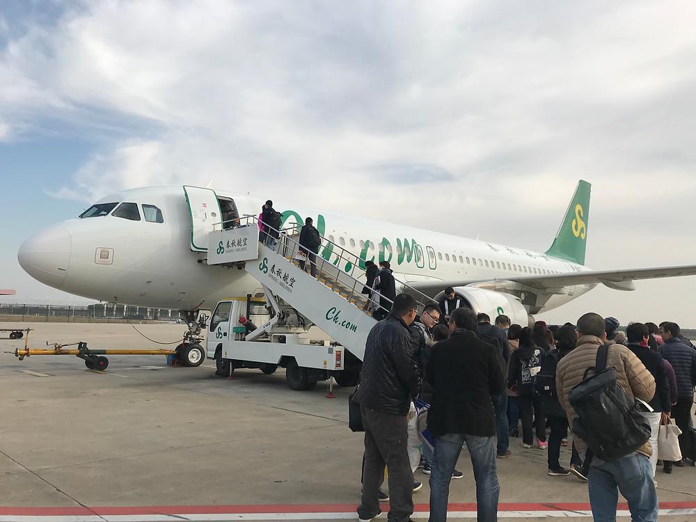 春秋航空機体