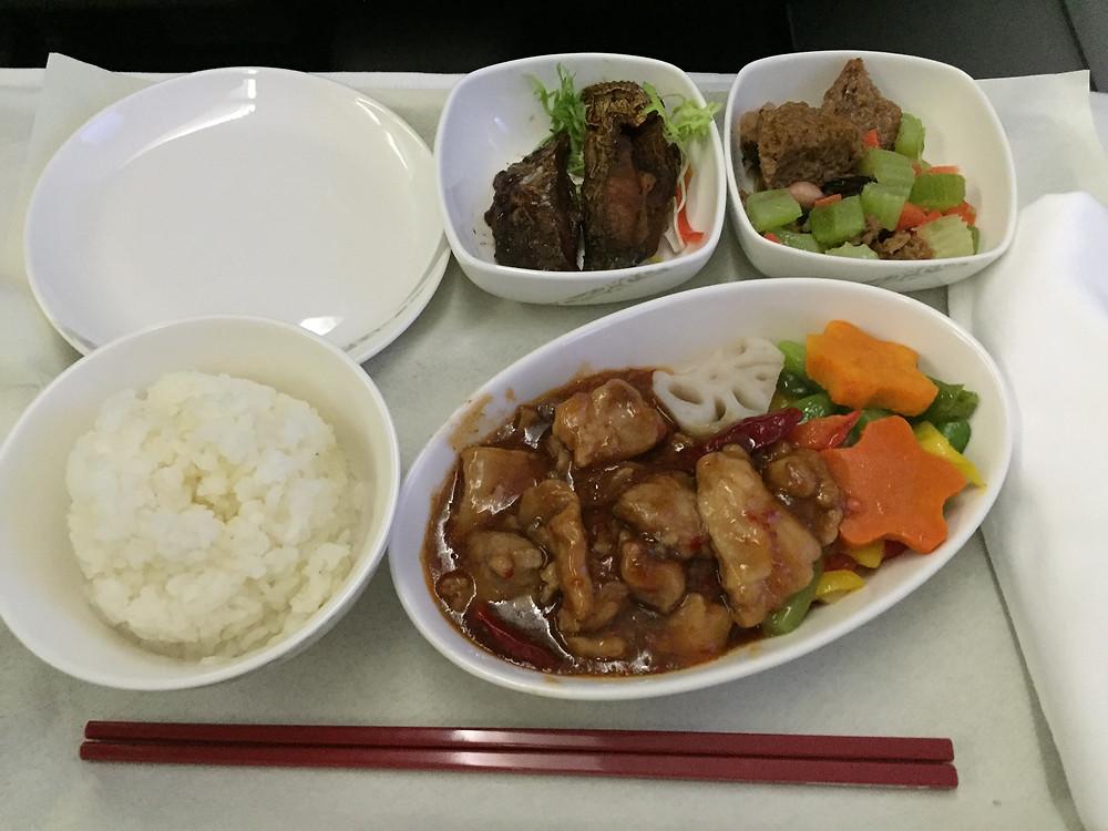 中国国際航空 ビジネスクラス 機内食