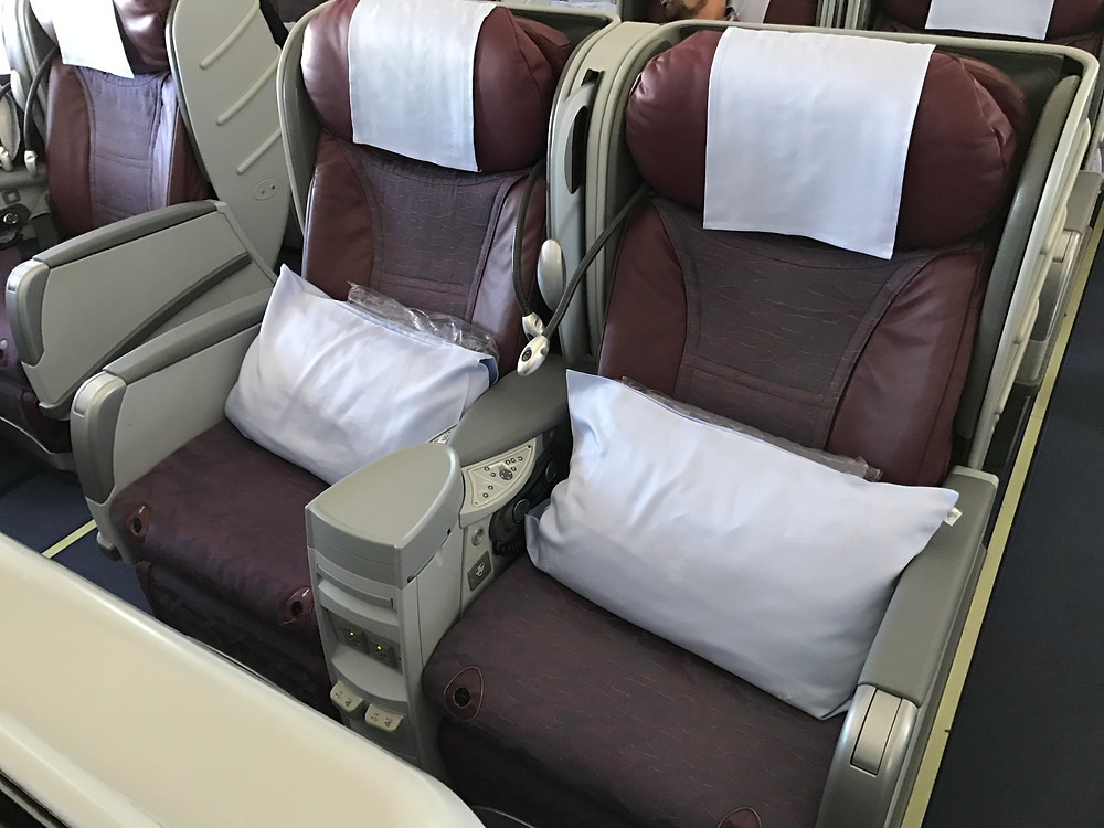 China Airlienes A330-300 Business Class seat