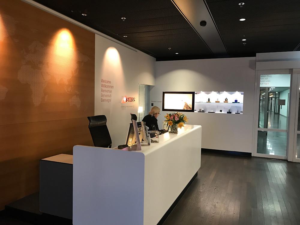 スイス航空 チューリッヒ空港 ビジネスクラスラウンジ 入り口