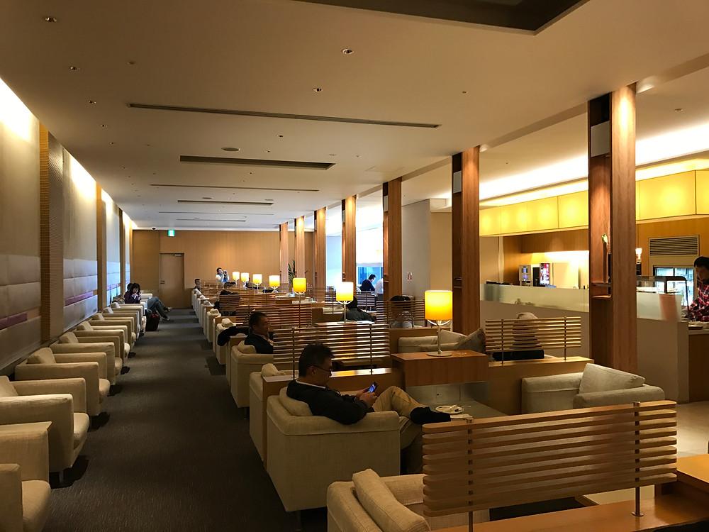 China Airlines lounge at Narita ariport