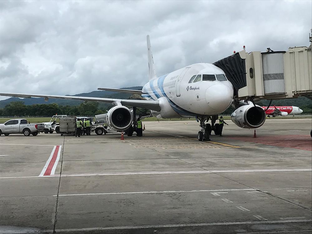 チェンマイ国際空港 バンコクエアウェイズ