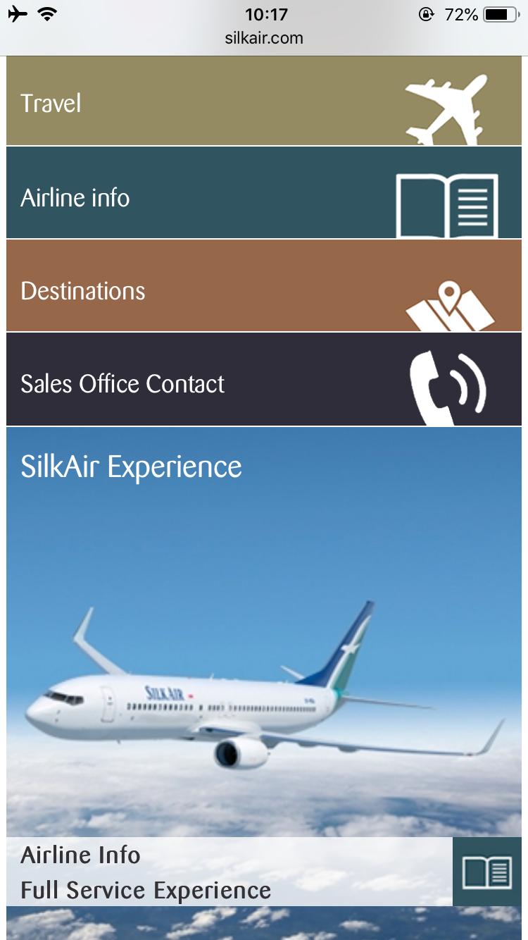 シルクエアー A320 機内エンターテイメント