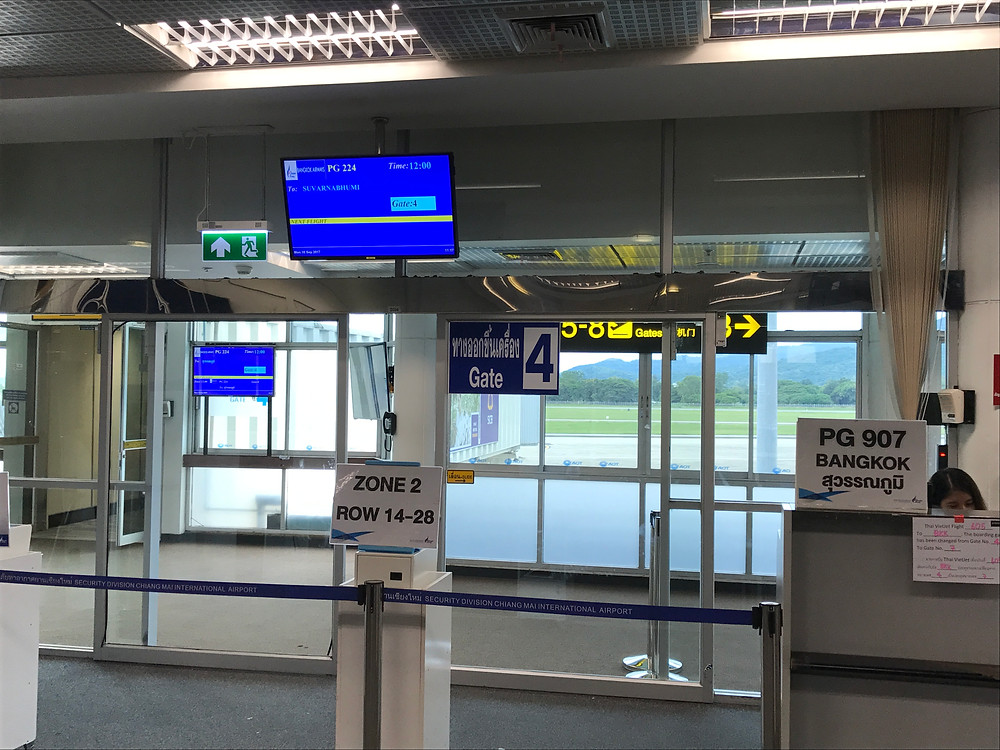 チェンマイ国際空港 バンコクエアウェイズ ゲート