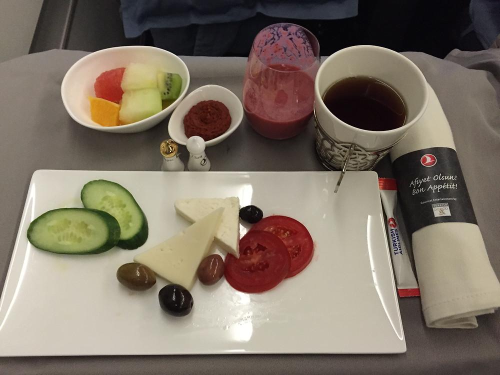 ターキッシュエアラインズ 機内食 朝食