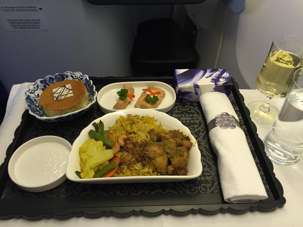 KLM ビジネスクラス 機内食