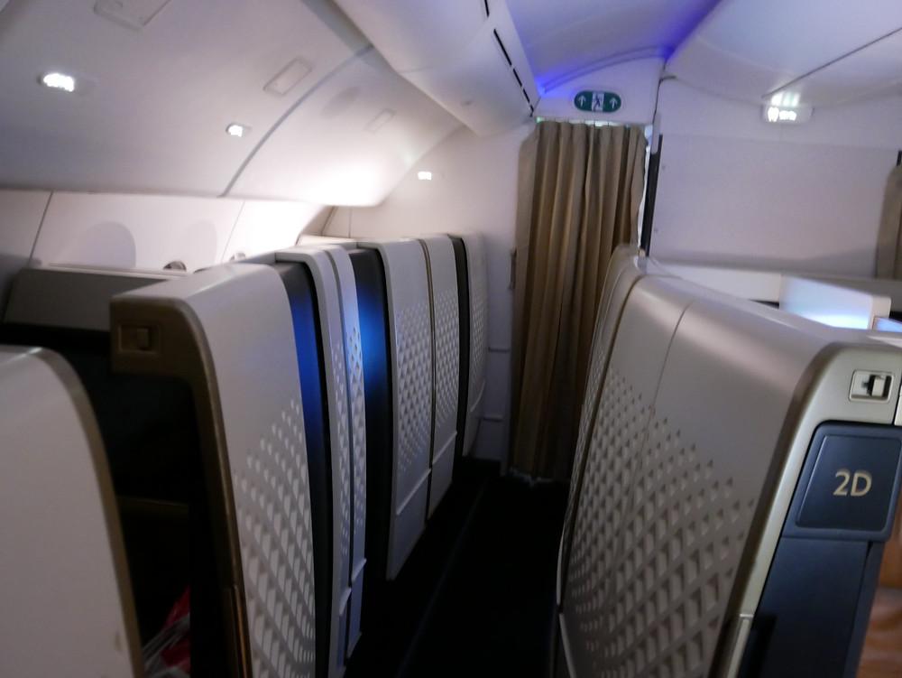 エティハド航空 ファーストクラス 機内