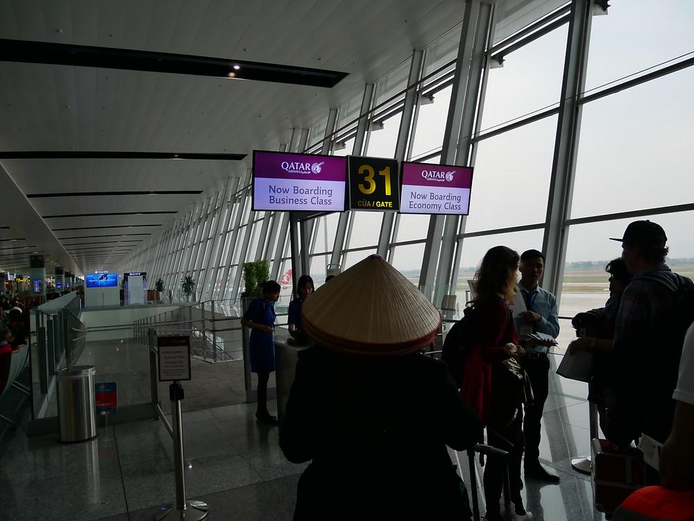 カタール航空 ハノイ空港 搭乗口