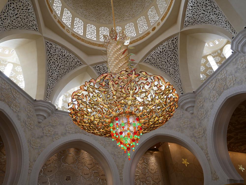  アブダビ シェイクザイード グランドモスク シャンデリア