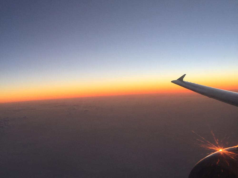 中国国際航空 窓からの景色