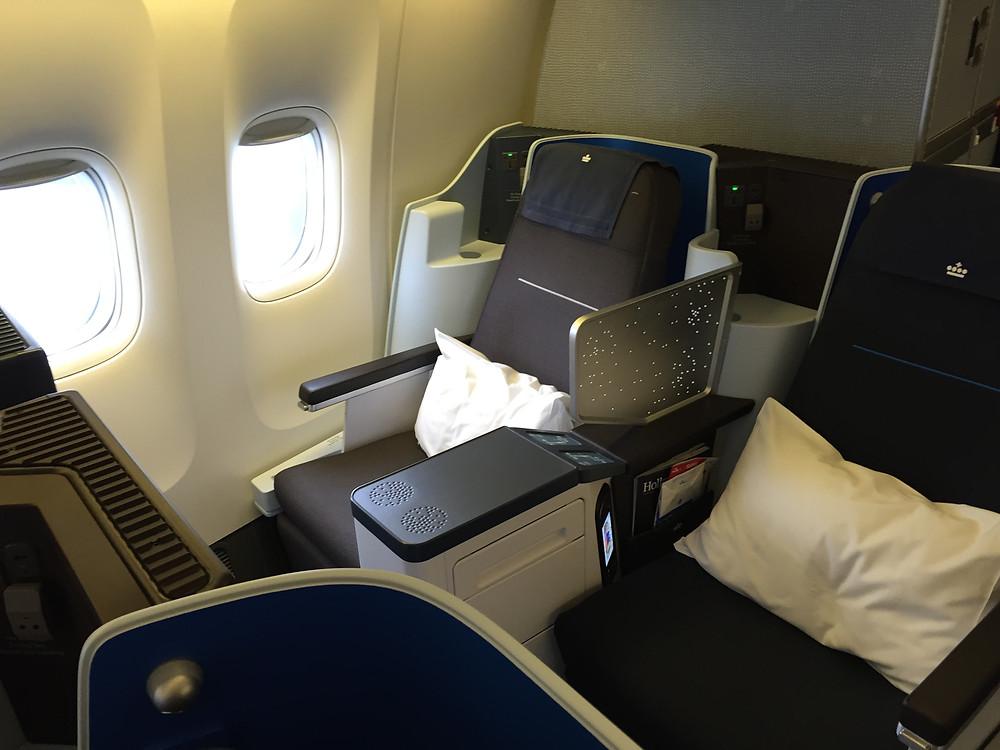 KLM ビジネスクラスシート