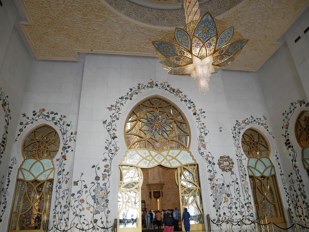  アブダビ シェイクザイード グランドモスク 内部