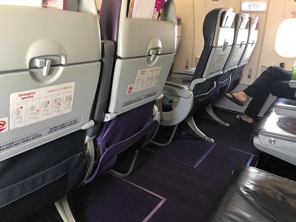 ピーチ 成田~関西 A320 非常口座席