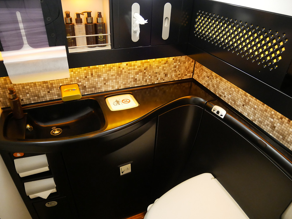 エティハド航空 ファーストクラス トイレ