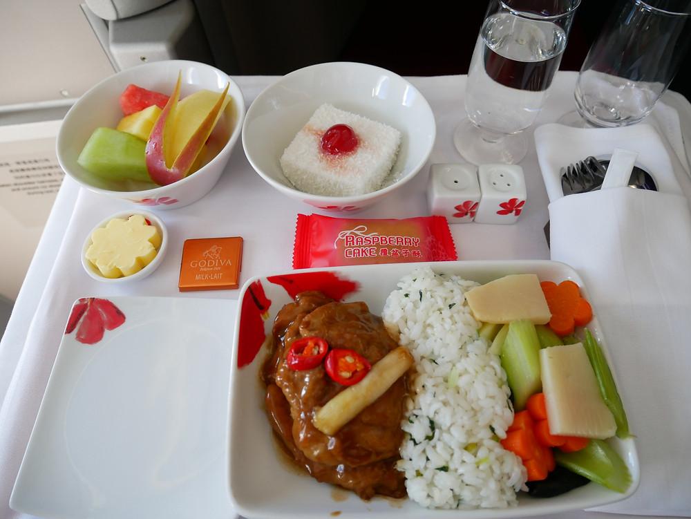 香港航空 A350 ビジネスクラス 機内食