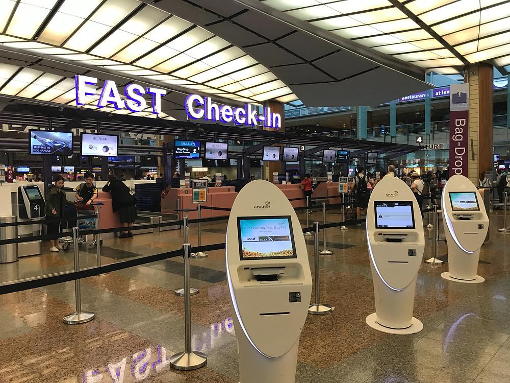 シンガポール空港 ターミナル2 チェックインエリア