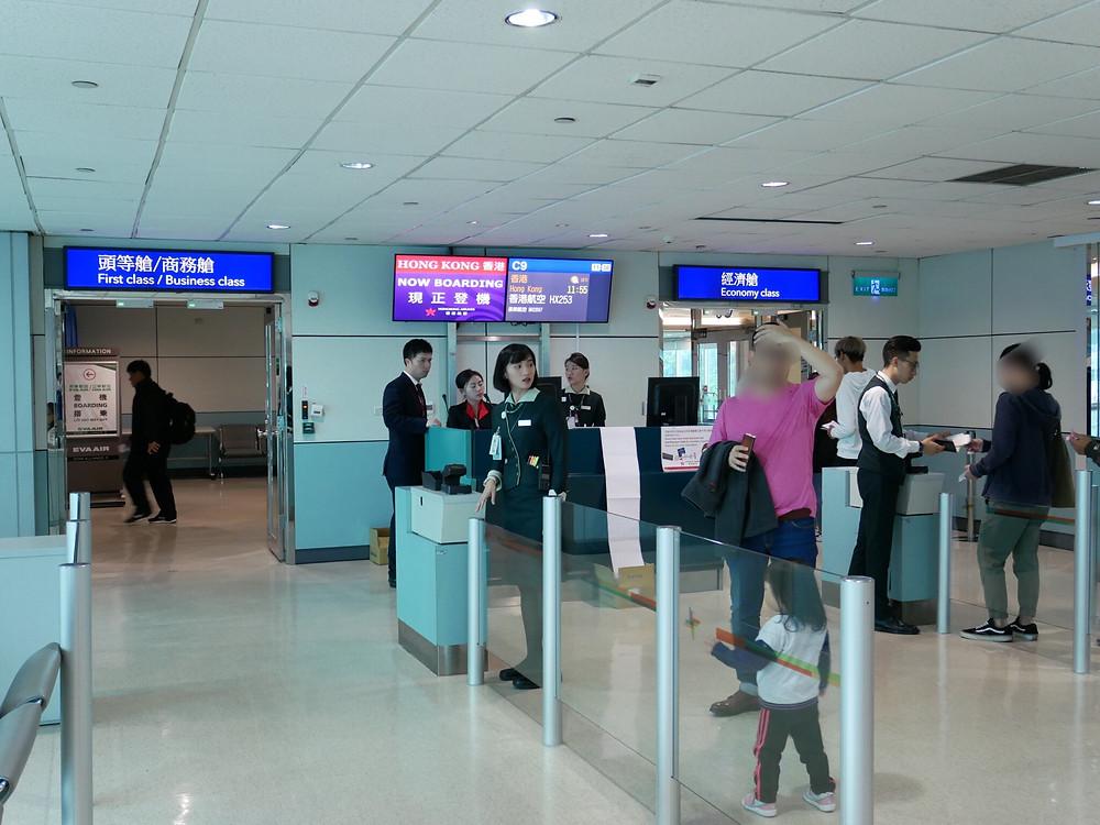香港航空 台北空港 搭乗口