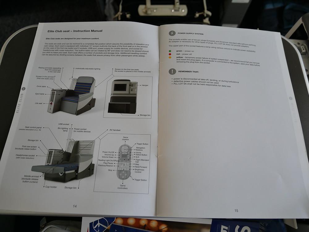 LOTポーランド航空 機内冊子類