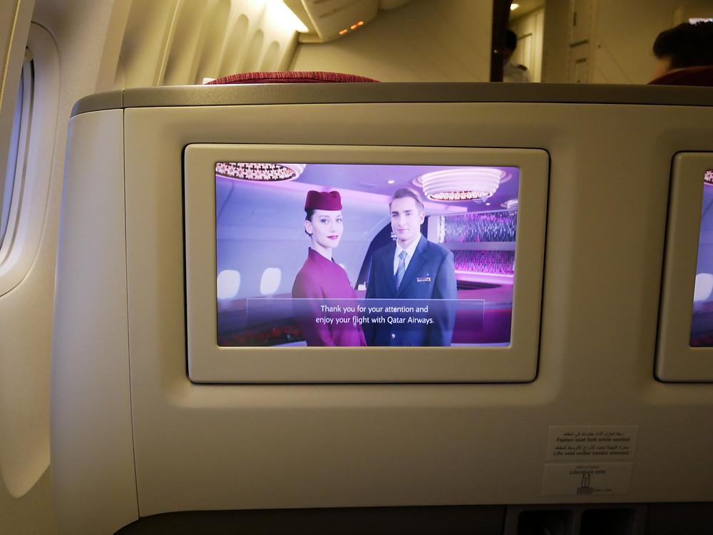 カタール航空 保安ビデオ