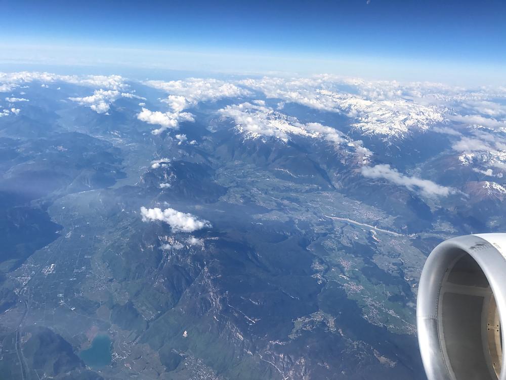 スイスインターナショナルエアラインズ  ビジネスクラス 外の眺め