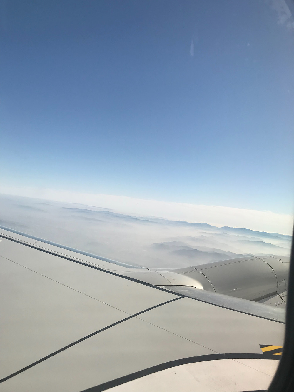 T'way 航空 機内からの景色
