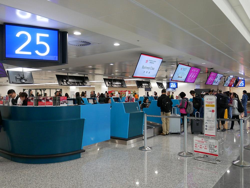 台北空港 チェックインエリア