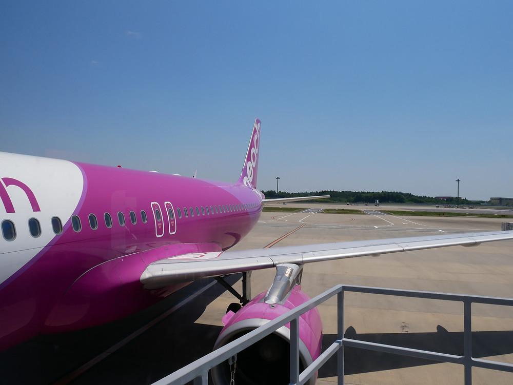 ピーチ 成田~関西 A320