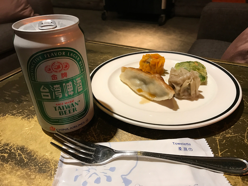 Taiwan beer and Dim Sum