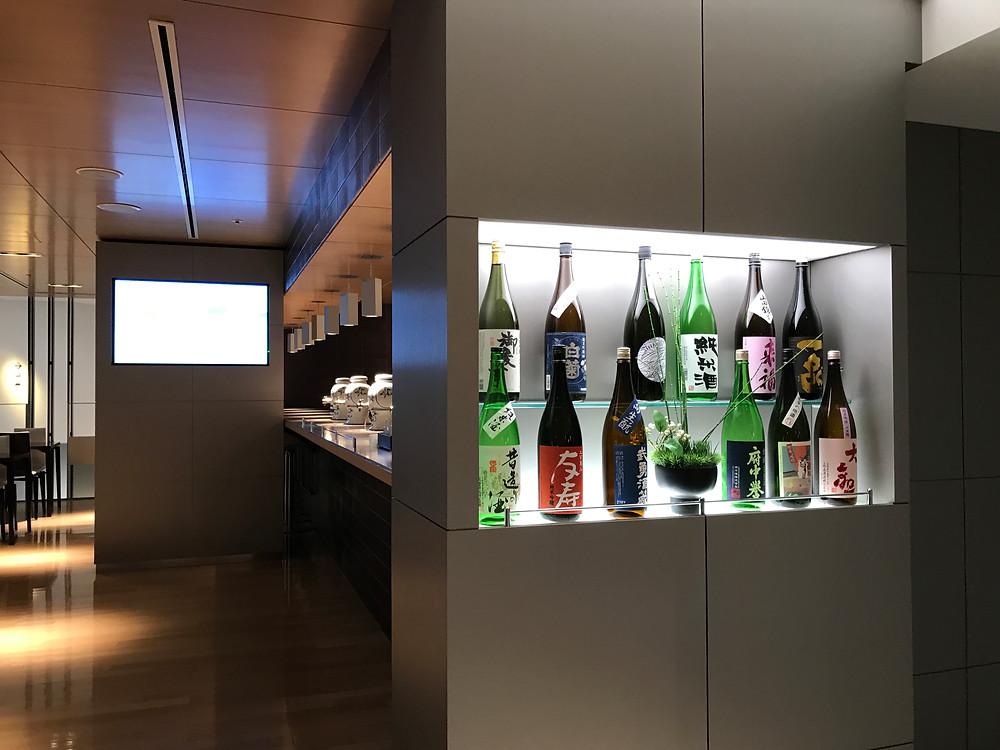 ANA ビジネスクラスラウンジ 日本酒バー