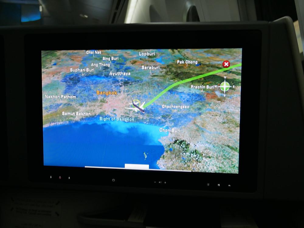 ロイヤルヨルダン航空 ビジネスクラス モニター画面